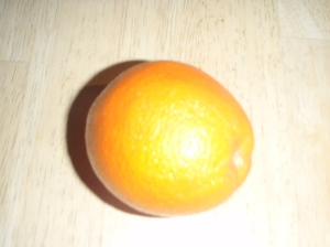 To you and me, an orange