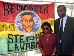 The parents of murdered teenager Stephen Lawrence