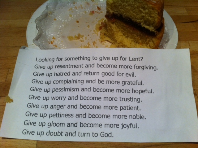 Cake and Lent