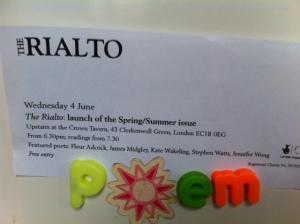 poem in Rialto