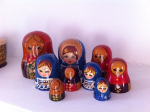Russian dolls heads