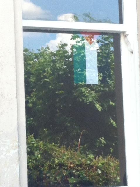flag in window