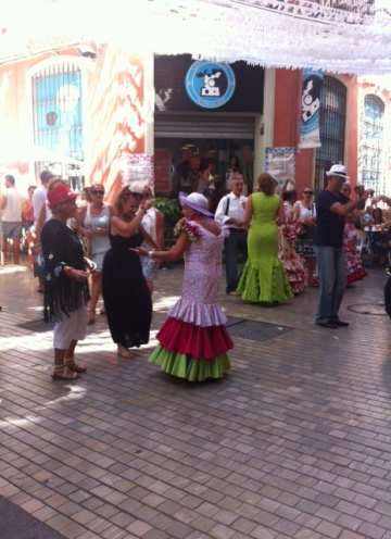 Everywhere you look, there's live music, singing and dancing on the streets.