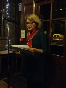 Josephine Corcoran reading at Vanguard. Photo courtesy of Richard Skinner.