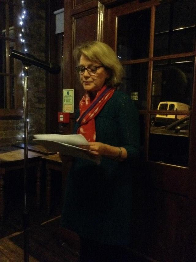 Josephine Corcoran reading at Vanguard. Photo courtesy of Richard Skinner.