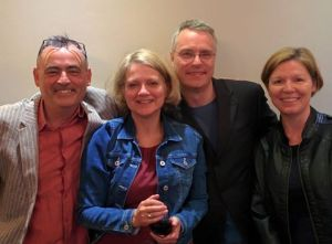L-R Roy Marshall, Josephine Corcoran, Richard Skinner, Robin Houghton