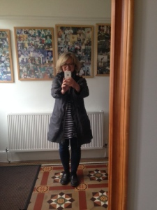 me wearing my coat