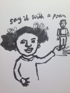 Say it with a poem girl poster